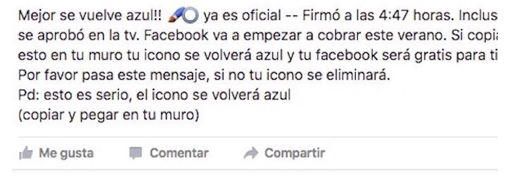 facebook azul estafa
